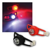 Set of 2 LED lights | red/white LED| splash-proof | silicone