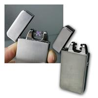 Lighter with electric arc LFX-PRO silver | plasma double-arc