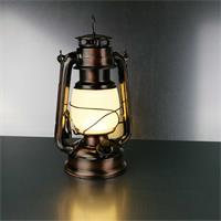 Warmweiß leuchtende Retro-Lampe mit Metallgehäuse