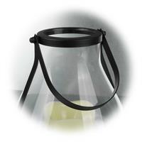LED Windlicht-Laterne mit praktischen Haltebügel zum Aufhängen
