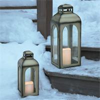LED Deko Laterne für den Innen- und Außenbereich, Flackereffekt