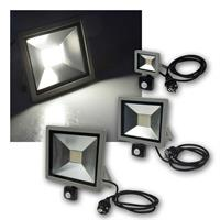 LED Fluter CTF-SLTPIR | 230V, 10/30/50W | daylight | außen
