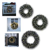 LED wreath with SNOW Ø50/70/90cm| 230V, warm white | outdoor