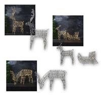 3D Rentier SARVE, 3 Motive | 150 LED, warmweiß | 230V, außen