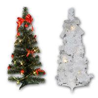 Mini Weihnachtsbäume klassisch und modern für den Innenbereich