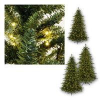 LED Weihnachtsbaum LARVIK in 2 Höhen| PE/PVC | Außen & Innen