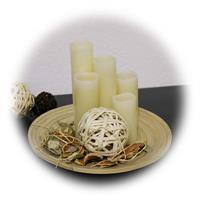 5er Set LED-Kerzen als Basis für vielfältige Dekorationen