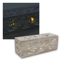 LED Teelichter in Holzrahmen | Teelicht Kerzen flackernd