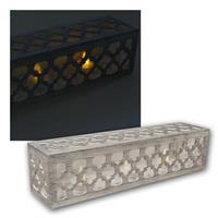LED Teelichter in Holzrahmen | 3 Stück | flackernd