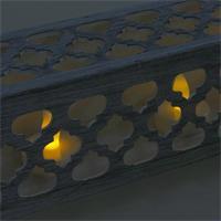 LED Dekokerzen mit warmweißem Lichtschein, Batteriebetrieb