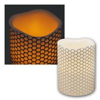 LED real wax candle flickering | Ø-h 7.5x10cm | for inside