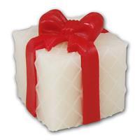 LED Leuchte in Form einer Geschenkbox mit roter Schleife