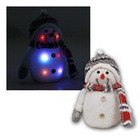 Schneemann mit LED Beleuchtung | Höhe 26cm | RGB, IP20