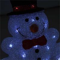 Deko Weihnachtsfigur mit weißen LEDs für den Außenbereich