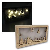 LED Dekolicht Weihnachtsmannschlitten | 10 LEDs | für Innen