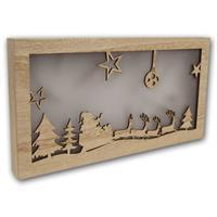 LED Holz Bilderrahmen für Tisch- oder Fensterdekoration