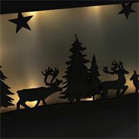 LED Weihnachtsleuchte mit warmweißem Lichtschein, mit Holzrahmen