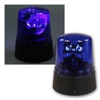 LED Rundumleuchte, blau | Höhe 11cm, Batterie betrieben