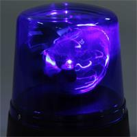 blaue LED Mini-Rundumleuchte mit drehendem Reflektor