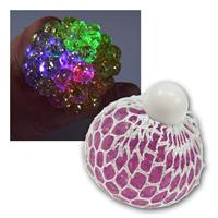 Crumpledball with LED and glitter, Ø6cm | sorted by color
