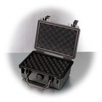 Stoßfester Gerätekoffer mit Noppen- und Rasterschaum