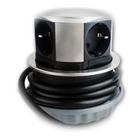 Steckdosenleiste für den Schreibtisch für 3 elektrische Geräte