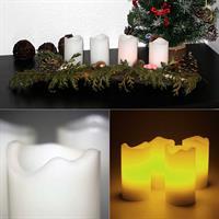 4er Set LED Adventskerzen in weiß oder elfenbein