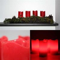 Batteriebetriebene LED Advents-Kerzen in 3 Farben