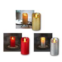 LED-Wachskerze GLOW FLAME | Timer | 5,5x10cm | 3 Farben
