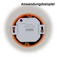 Funk-Schalter mit Dimmfunktion für den Einbau in Unterputzdosen