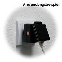 Funk-Schutzkontaktsteckdose mit LED Funktionsanzeige für AN/AUS