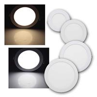LED light panel QCP-R | round, 6/12/18/24W | 2 light colors