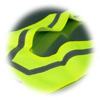 Reflektionskragen in V-Form aus neongelben Baumwollgewebe