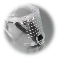 Vollsichtschutzbrille mit perforierter Fassung und Gummiband