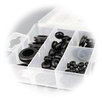 Gummitüllen in praktischer Kunststoffbox in gängigen Größen