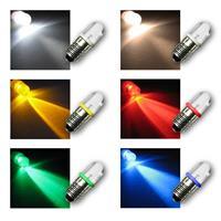 LED screw base bulbs E10 | 12V DC luminaire in 6 colors