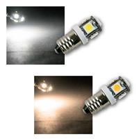 LED Leuchtmittel E10 | 2 Farben | 12V DC LED Birne