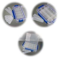 Kleinteilbox mit 6 oder 8 variablen Trennstegen