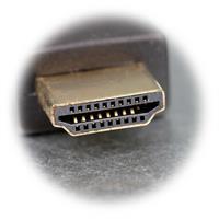 HDMI Stecker mit 19-poligen Goldkontakten