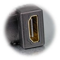 HDMI Kupplung für Kabelabgang nach unten, oben, rechts oder links