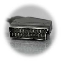 21-polige Scart-Stecker, voll beschaltet