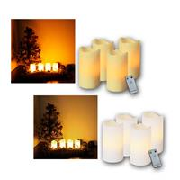 Set of 4 LED Advent candles with remote control | 2 colours