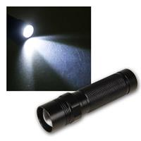 1W LED torch LET-11 | zoom function | 90lm | aluminium