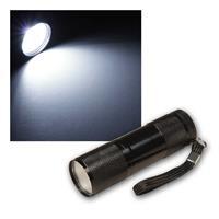 LED Taschenlampe McSHINE | Alu, schwarz | 1W COB LED | 75lm