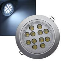 LED-Einbaustrahler 12x 1W Edison pur-weiß 24V