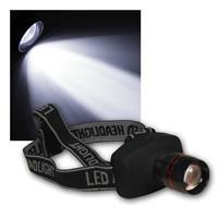 LED Stirnlampe McSHINE LES-13 | 1W, fokussierbar | Kopflampe