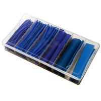 Schrumpfschlauch-Sortiment, 100-teilig blau