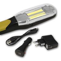 LED-Arbeitsleuchte inklusive Netzteilen und Ladekabel