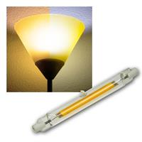 R7s Leuchtstab RS118 COB8 118mm warm/neutral Glas