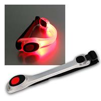 LED safety light with velcro fastener| red | 2 light modes